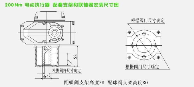 电动调节阀,ytdg-rs电动调节球阀,电动球阀安装示意图3图片