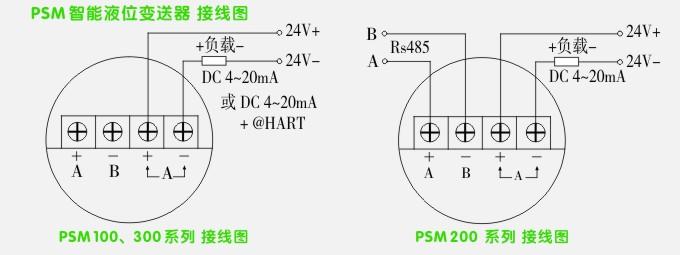 智能液位变送器,rs485智能液位计接线示意图