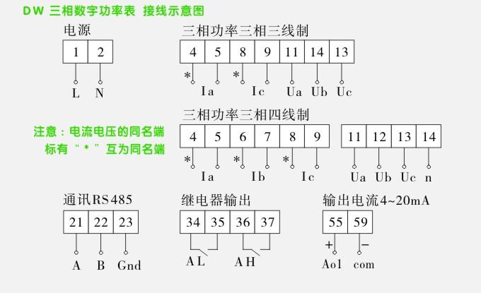 数字功率表,dw5三相有功功率表接线方式