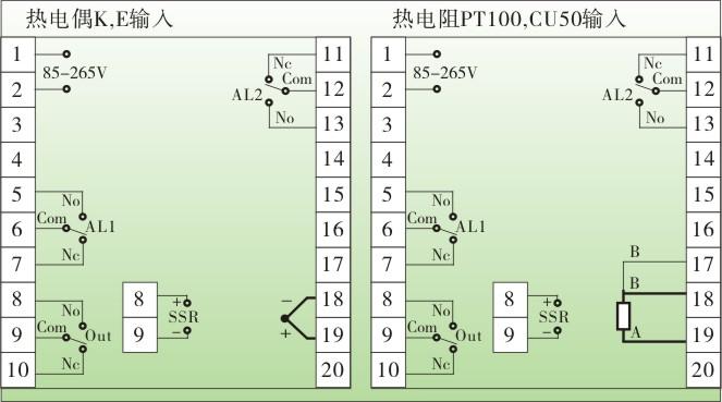温控器接线图及原理见图
