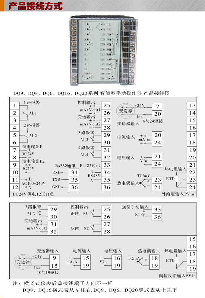 智能手动操作器,dq9电动操作器,手操器接线图
