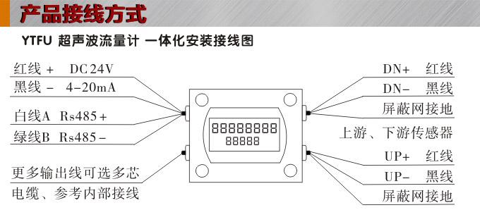 超声波流量计,ytfu管段式超声波流量计接线图