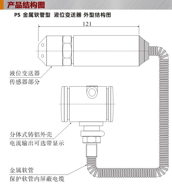 ps1300r防爆液位变送器结构图