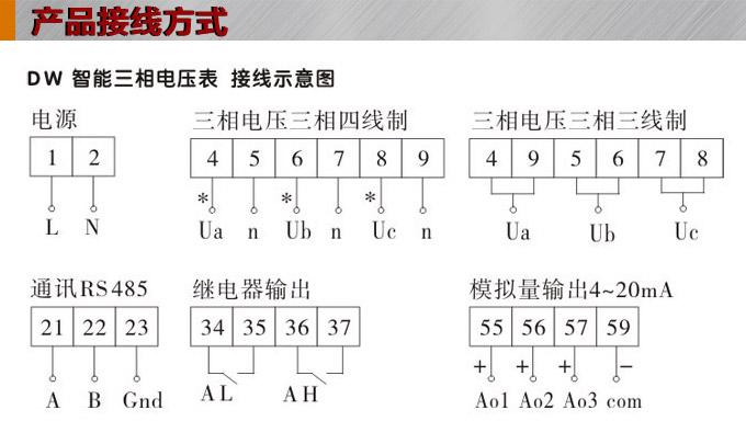 三相电压表,dw9三相数字电压表接线图